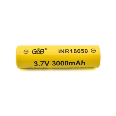 High capacity cylindrical 18650 3.7V 3000mah lithium ion battery