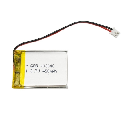 Rechargeable small lithium polymer 3.7v 450mah battery