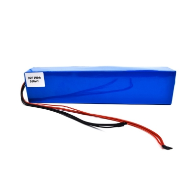 36V 10Ah 18650 lithium electric bike scooter li ion battery pack