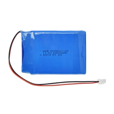 Rechargeable Lithium Polymer 803450 3S 11.1v 5200mah Lipo Battery Pack for RC Car